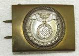 Early 2 Tone SA Belt Buckle For NCO