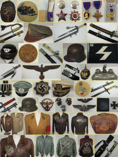 MILITARY COLLECTIBLES AUCTION TUESDAY AUG. 6, 2019