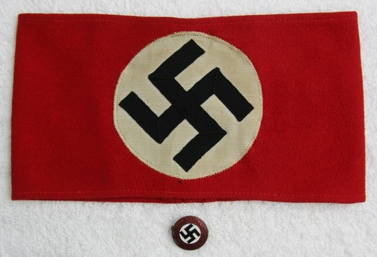 2pcs-Early Multi Piece NSDAP Party Armband-Party Pin By Deschler