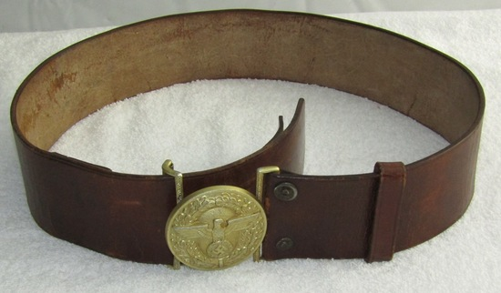 Political Leader Buckle With Leather Belt