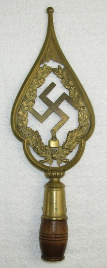 Ww1 German Veteran's Flag Pole Top-Early Conversion For SA/SS