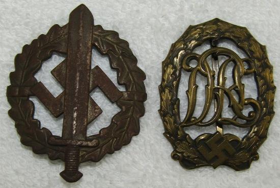 2pcs-SA Sports Badge In Silver-Bronze DRL Badge