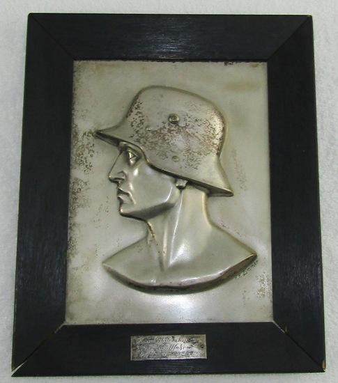 WW1/Early WW2 Unit Birthday Plaque-Artist Signed