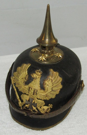 Scarce Pre WW1 Period Prussian M1871 Reserve Officer's Pickelhaube