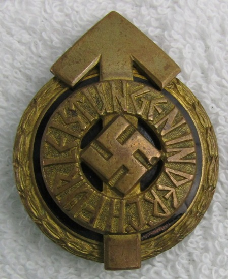 Scarce WW2 Hitler Youth Golden Leader's Sports Badge-Numbered