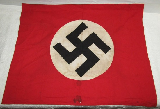 WW2 NSDAP Double Sided Flag-Smaller Display Size