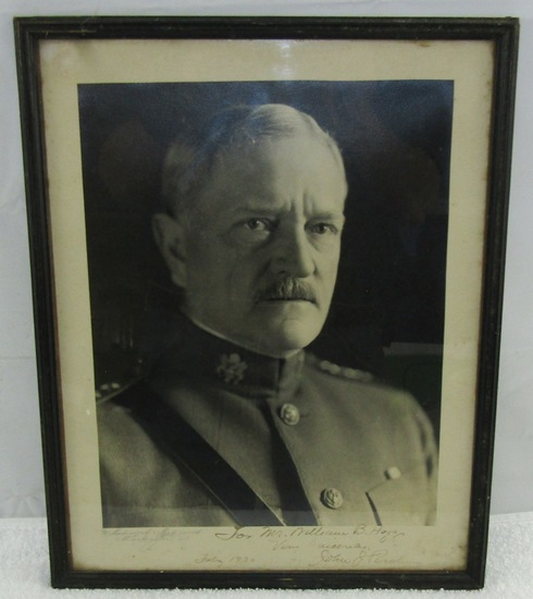 Framed Portrait Photograph Of General Pershing-Hand Signed With Dedication