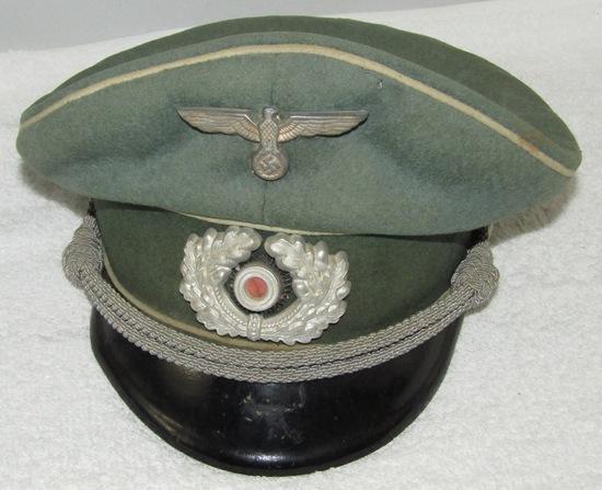WWII German Wehrmacht Infantry Officer's Visor Cap