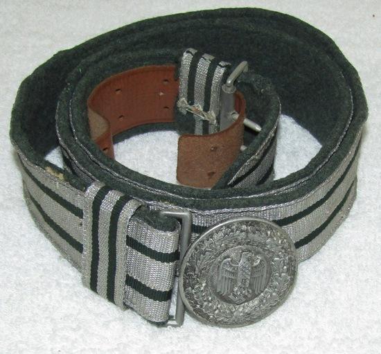 Wehrmacht Officer's Brocade Belt With Buckle