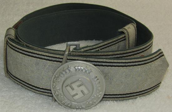 Rare WW2 SS Police Officer's Brocade Belt With Assmann Buckle