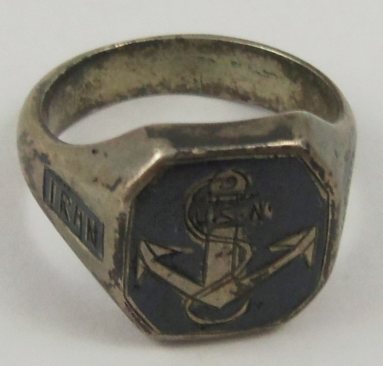Scarce WW2 Period USN Sailor Stationed In Iran Ring
