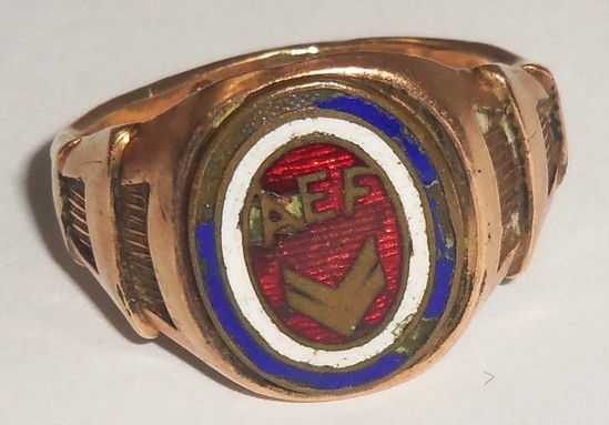 WWI U.S. Soldier's AEF Ring-12kt Gold Filled