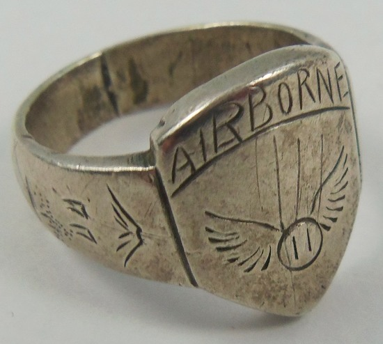 Theater Made U.S. Paratrooper 11th Airborne Ring