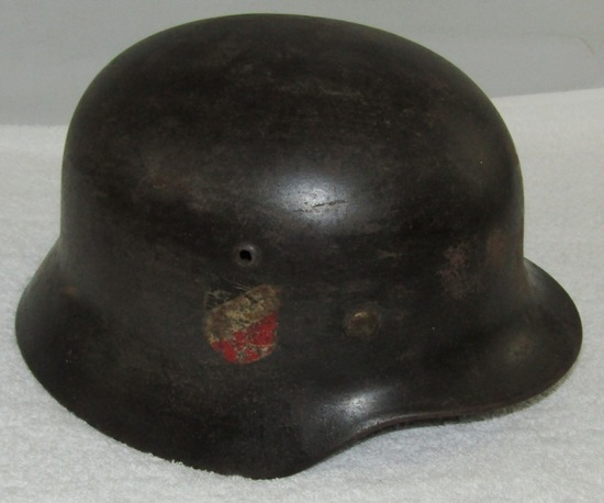 Double Decal M35 Luftwaffe Helmet With Liner-Early Quist Lot Number