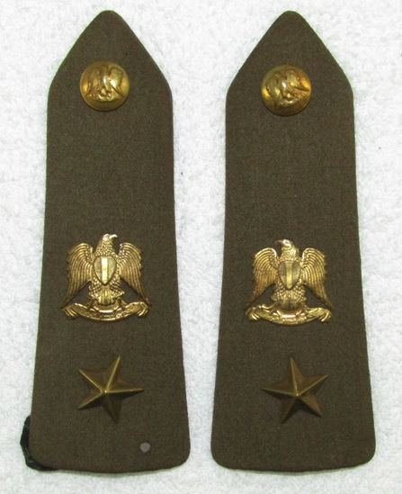Original Iraqi War Republican Guard General's Shoulder Boards