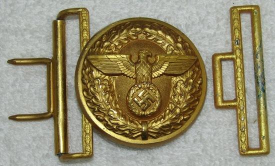 WW2 German Political Leader's Belt Buckle W/Keeper