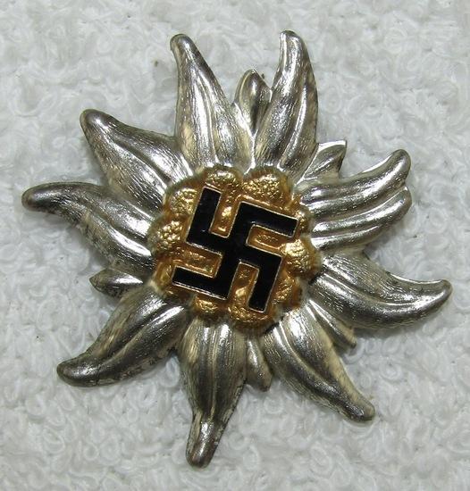 WW2 SA/NSKK/SS/HJ Hochland Cap Badge