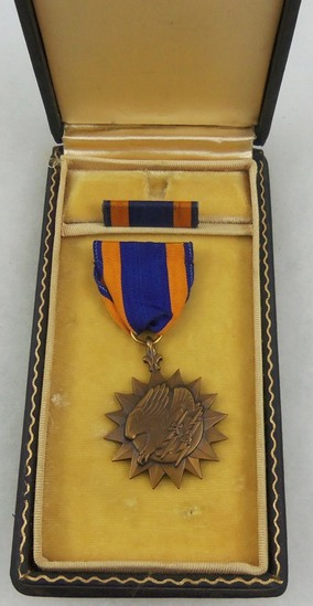 Name Engraved WW2 USAAF Air Medal With Case
