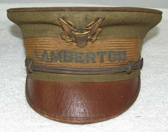 Pre/Early WW1 Period Named U.S. Army Cadet? Visor Hat-LAMBERTON