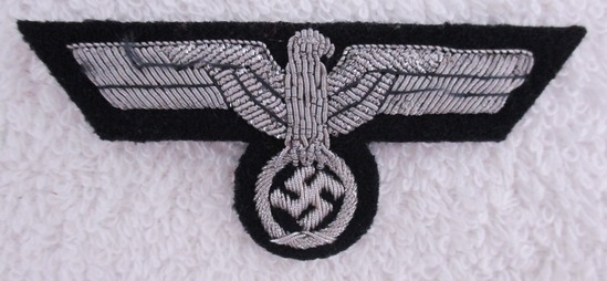 WW2 Period Panzer Officer's M43 Cap Bullion Eagle-No