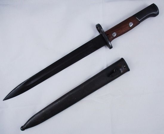 "M48 Serbia Made ""44"". Yugoslavia Mauser  Bayonet w/Steel Scabbard - Matching Numbers"