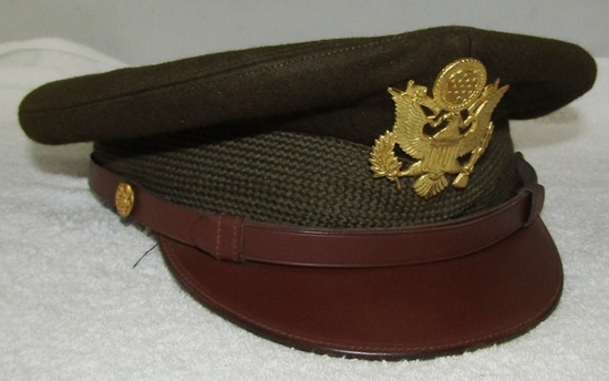 WW2 U.S. Army/Army Air Corp Officer's OD Visor Cap-By Dunlap. 7-5/8 Size