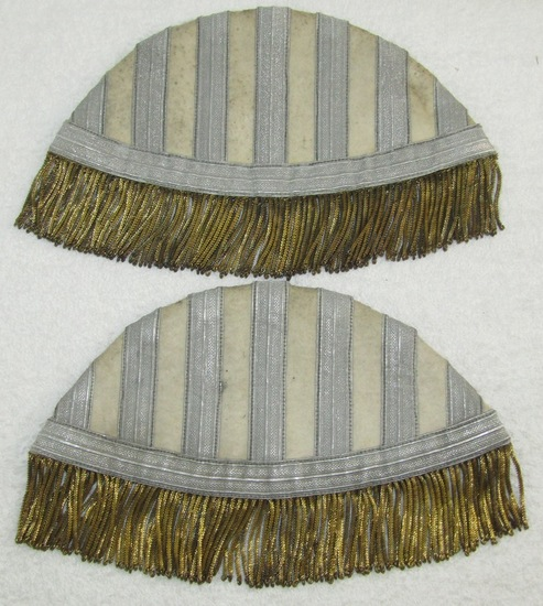 Scarce Pair Of WW2 Wehrmacht Band Swallow Nests For Drum Major