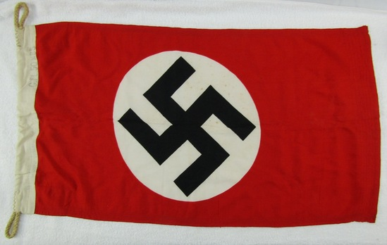 "Double Sided NSDAP Flag-Rare Holland Maker Stamping-50cm X 85cm (19"" X 33"")"