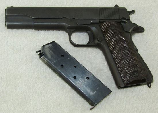 WW2 Period Remington Rand M1911A1 .45 Pistol With Clip