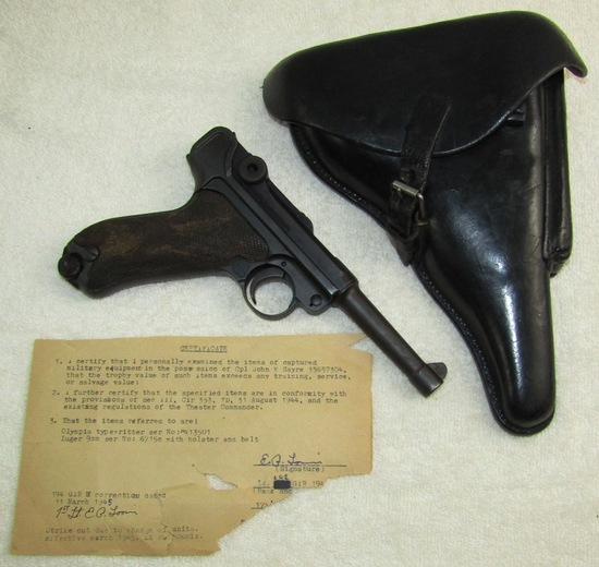 1910 Dated DWM Luger W/Holster-Original WW2 Bringback Paper-17th Airborne/194th GIR Soldier