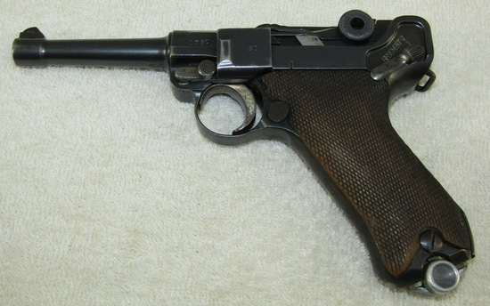 1921 Dated DWM Luger With Matching Numbers/Matching Clip-Weimar Military Police Unit Markings