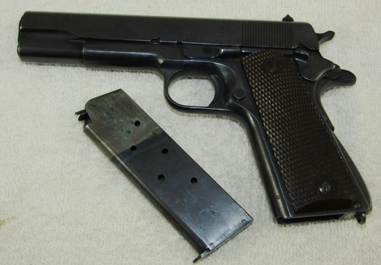 WW2 Period Remington Rand M1911A1 .45 Pistol-Frame Has 1943 Union Switch Serial Number
