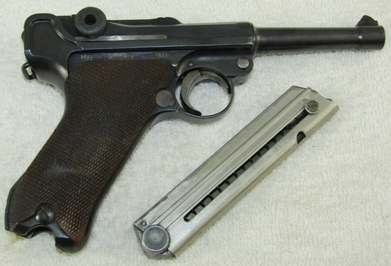 1921 DWM Luger W/Matching Numbers-Weimar Military Police Unit Markings-Vet Bring Back May 1945