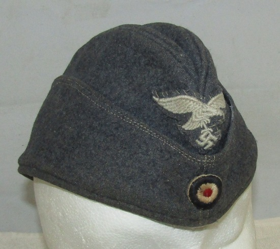WWII Period Luftwaffe Garrison Cap For Enlisted