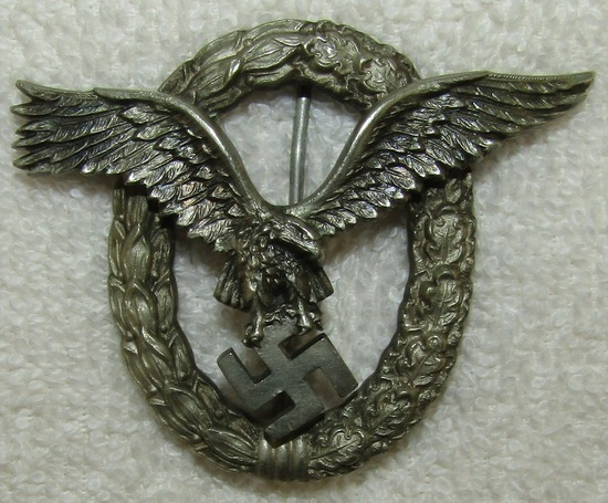 Luftwaffe Pilot Badge-Early Example By JMME
