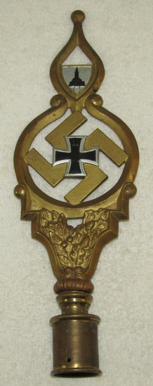 German Soldier Veteran's Flag Pole Top (DRKB)