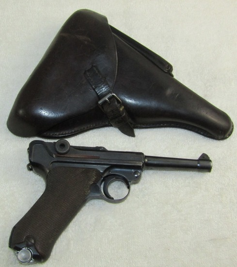 1939/42 Code Luger Pistol-Matching Numbers-1939 Dated Holster