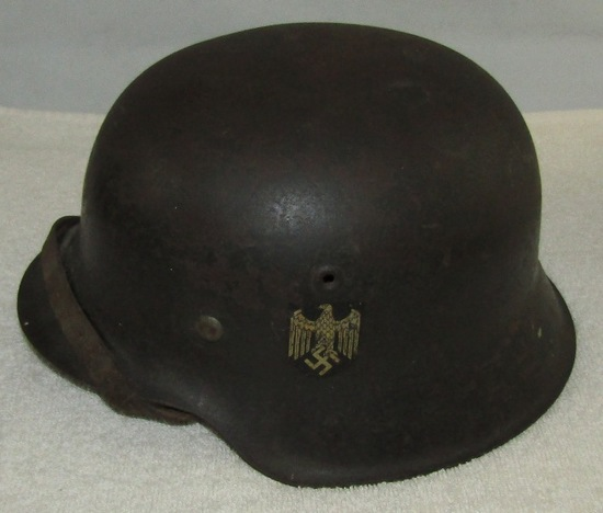 M42 Single Decal Heer Helmer With Liner-Chin Strap-Size 68