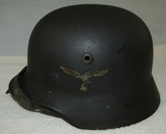 M40 Single Decal Luftwaffe Helmet With Liner/Chin Strap