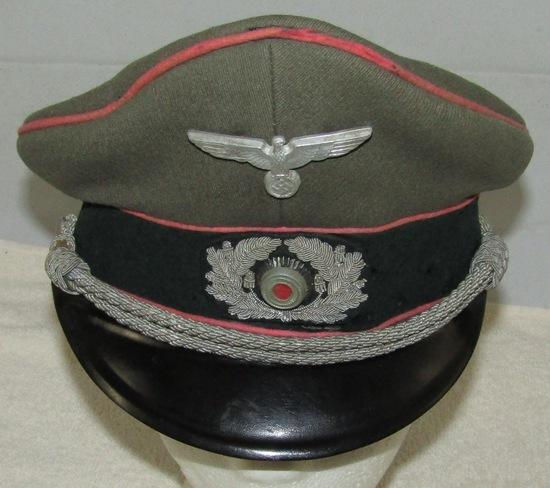German Panzer Officer's Visor Hat-Pekuro