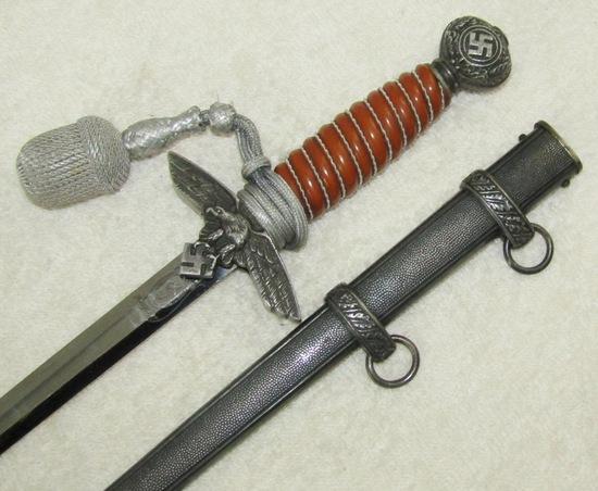 Luftwaffe Officer's 2nd Model Dagger With Scabbard/Portapee-E P & S