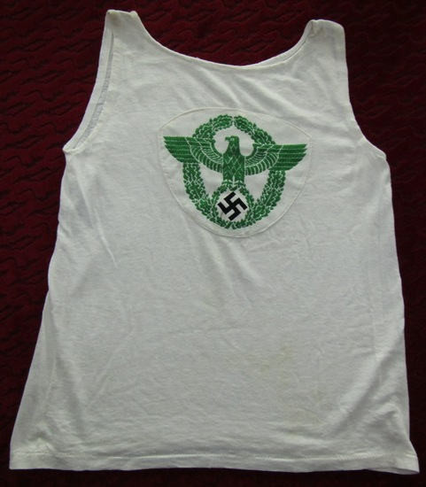 WWII Period Nazi Police Sports Tank Top/Tee Shirt
