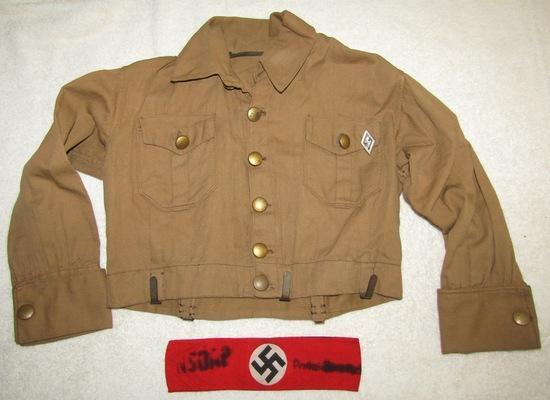 Scarce WW2 Period DJ (Deutsches Jungvolk) Uniform Waist Jacket