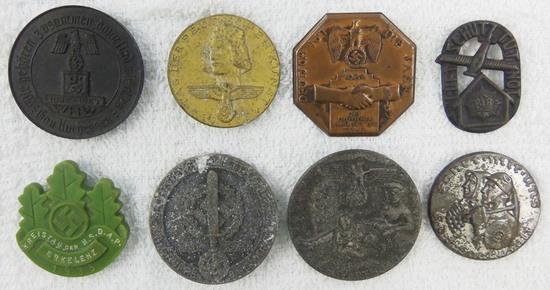 8pcs-WW2 Period German Rally Badges