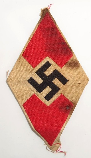 Bevo Embroidered Hitler Youth Member Sleeve Patch