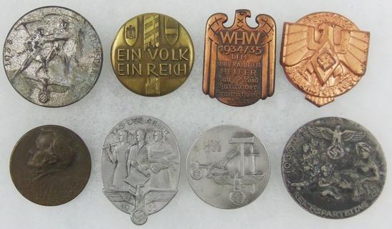 8pcs-Misc WW2 German Rally Badges