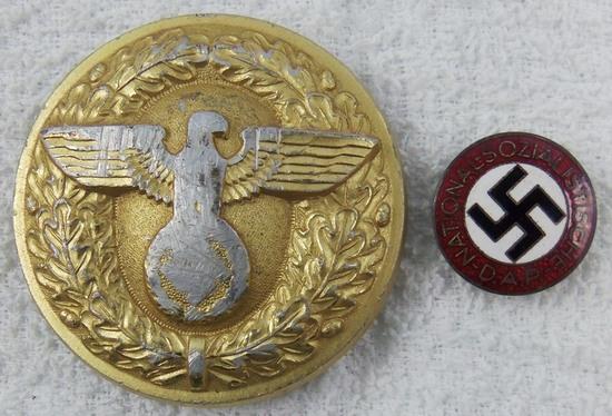 2pcs-Political Leader Belt Buckle-NSDAP Party Pin