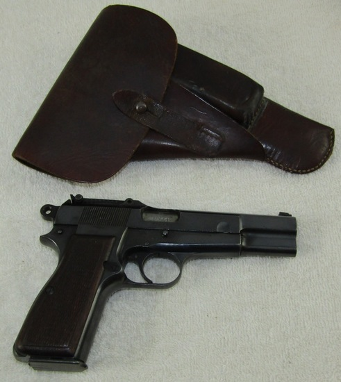 Scarce Nazi Proofed Browning High Power Pistol With Holster