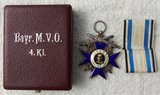 Bavarian Military  Merit Cross W/Case-Officer's 4th Class Version