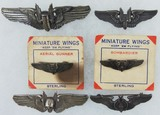 6pcs-WW2 Period U.S. Army Air Corp Bombardier/Air Gunner Wings